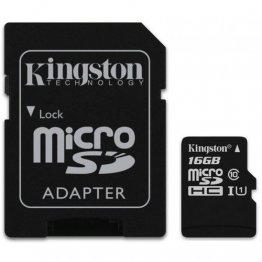 Карта памяти microSDHC 16Gb UHS-I Class 10 Kingston + SD адаптер