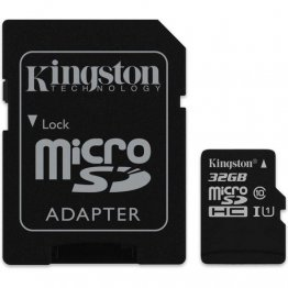 Карта памяти microSDHC 32Gb UHS-I Class 10 Kingston + SD адаптер
